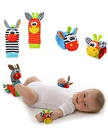 Active Baby Kids Sock And Wrist Rattles Cute Intellectual Developmental Toys Animal Baby
