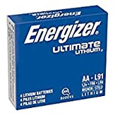 energizer L91 AA Ultimate Lithium Batteries (Pack of 4)