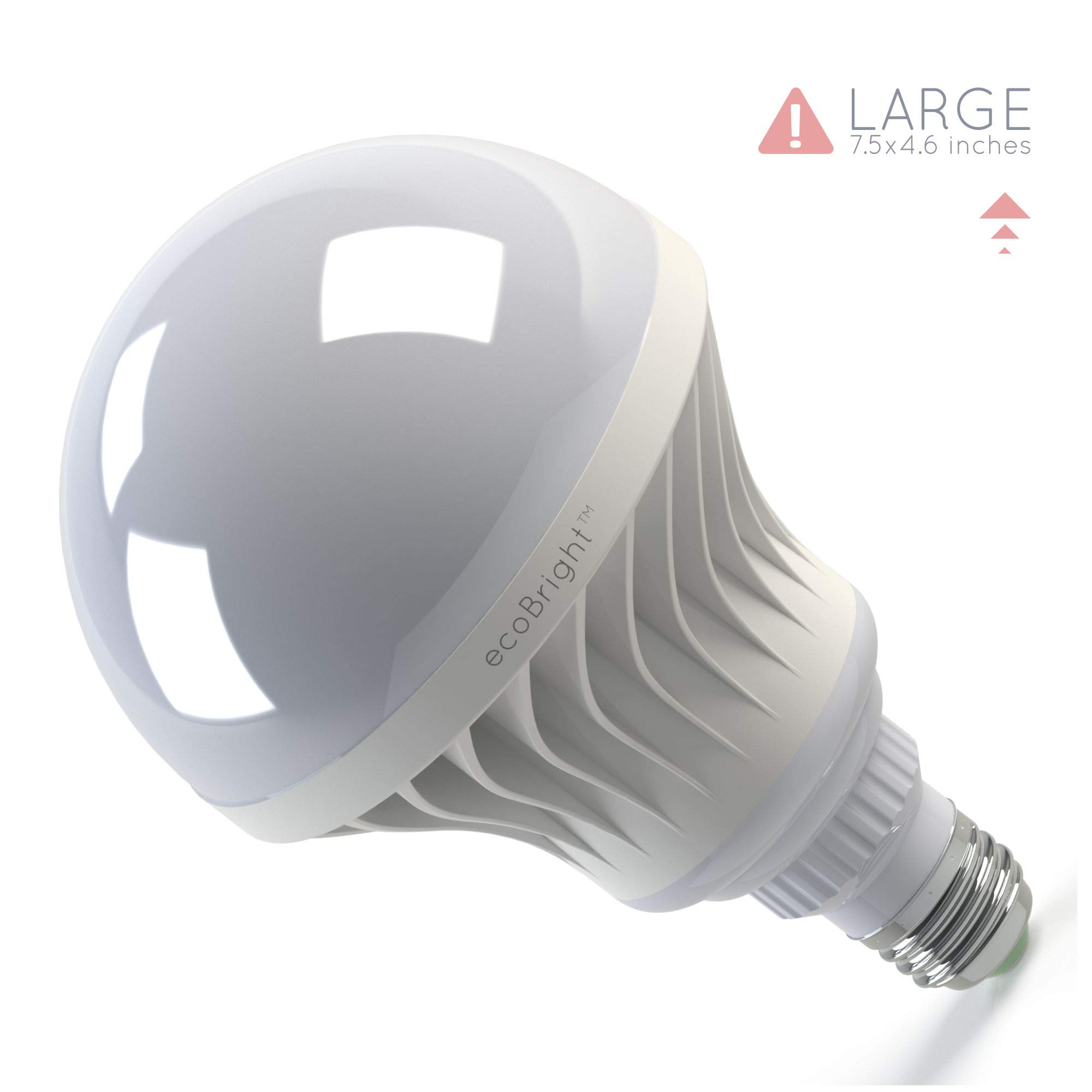 ecoBright 30W (250W 3000LM LED Light Bulb, 3000K Warm White (non-dimmable) by ecoBright