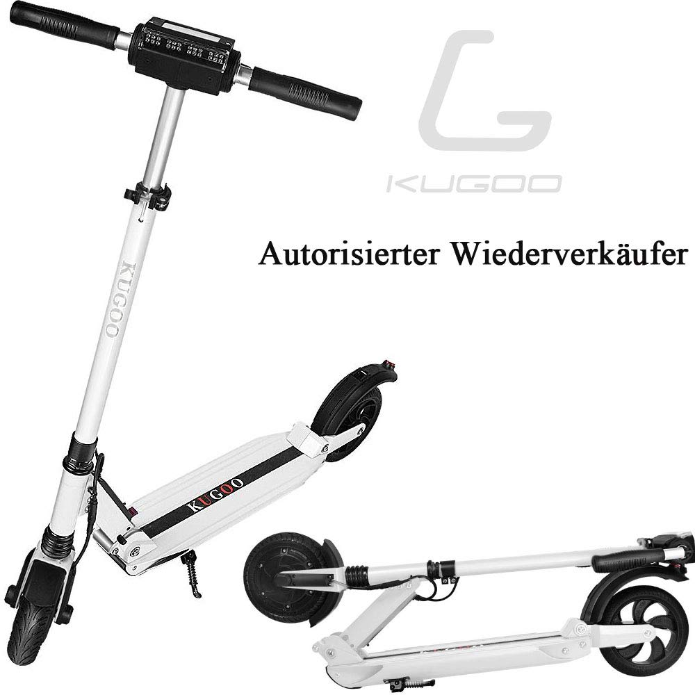 GoZheec KUGOO S1 Patinete Eléctrico E-Scooter de 350 vatios y 30 km con 30 km/h Velocidad máxima e-Scooter Plegable para Adolescentes Y Adultos con ...