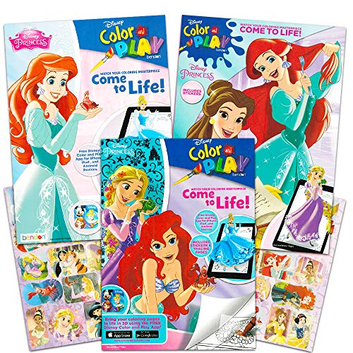 Disney Princess Coloring and Activity Book Super Set -- 3 Books with Stickers (Party Set) (Disney Princess)