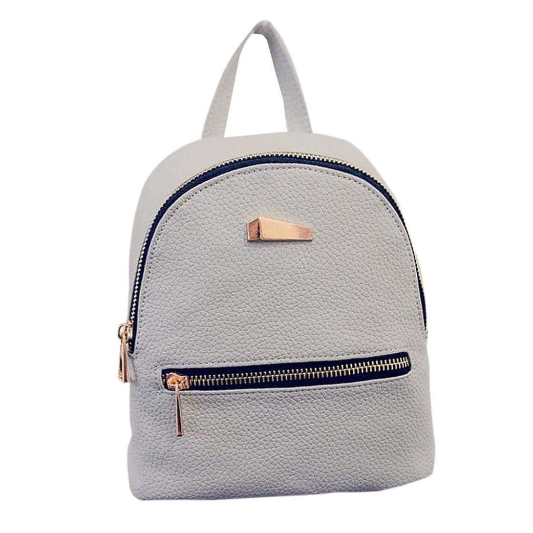Gotd Women Girls Backpack Travel Handbag School Rucksack (Pink)