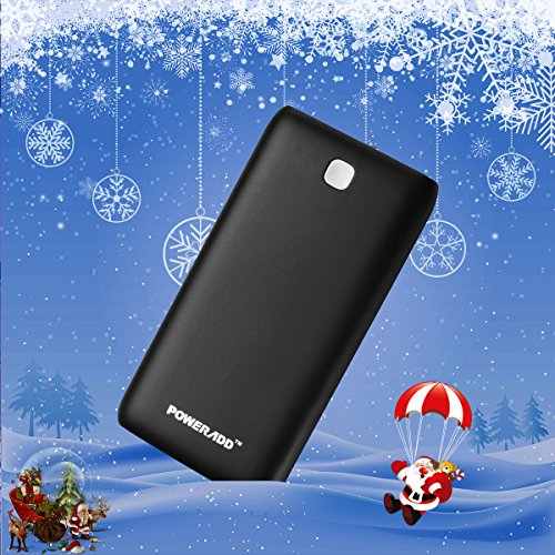 Poweradd Pilot X7 20000mAh two USB success lightweight Charger External Battery electric power Bank by using assembled in LED Flashlight for iPhone iPad Samsung and additional Black show Accessories