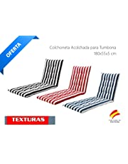 Colchón Tumbona Acolchada Classic 180x55X5 Texturas
