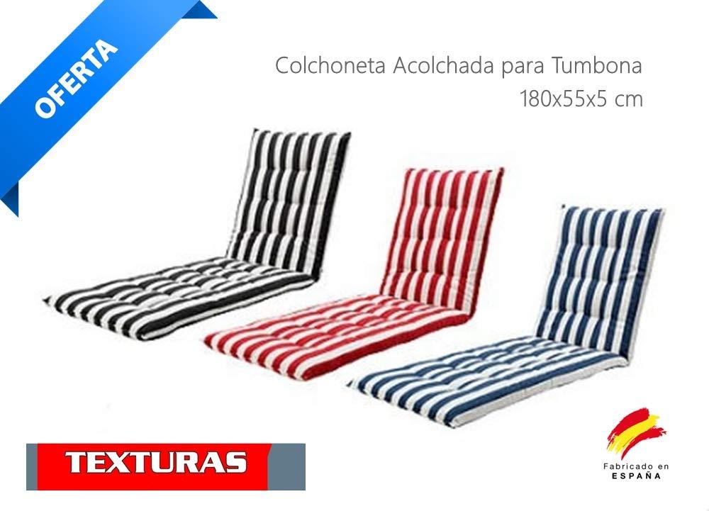 Colchón Tumbona Acolchada Classic 180x55X5 Texturas (Amarillo)