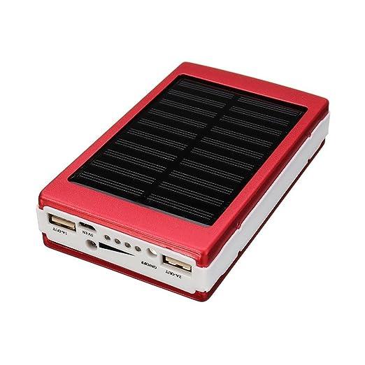 Jaminy Portátil solar Power Bank Solar cargador de batería ...