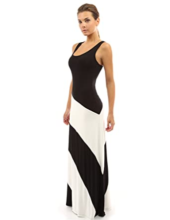 PattyBoutik Women's Racerback Striped Maxi Dress at Amazon Women's ...