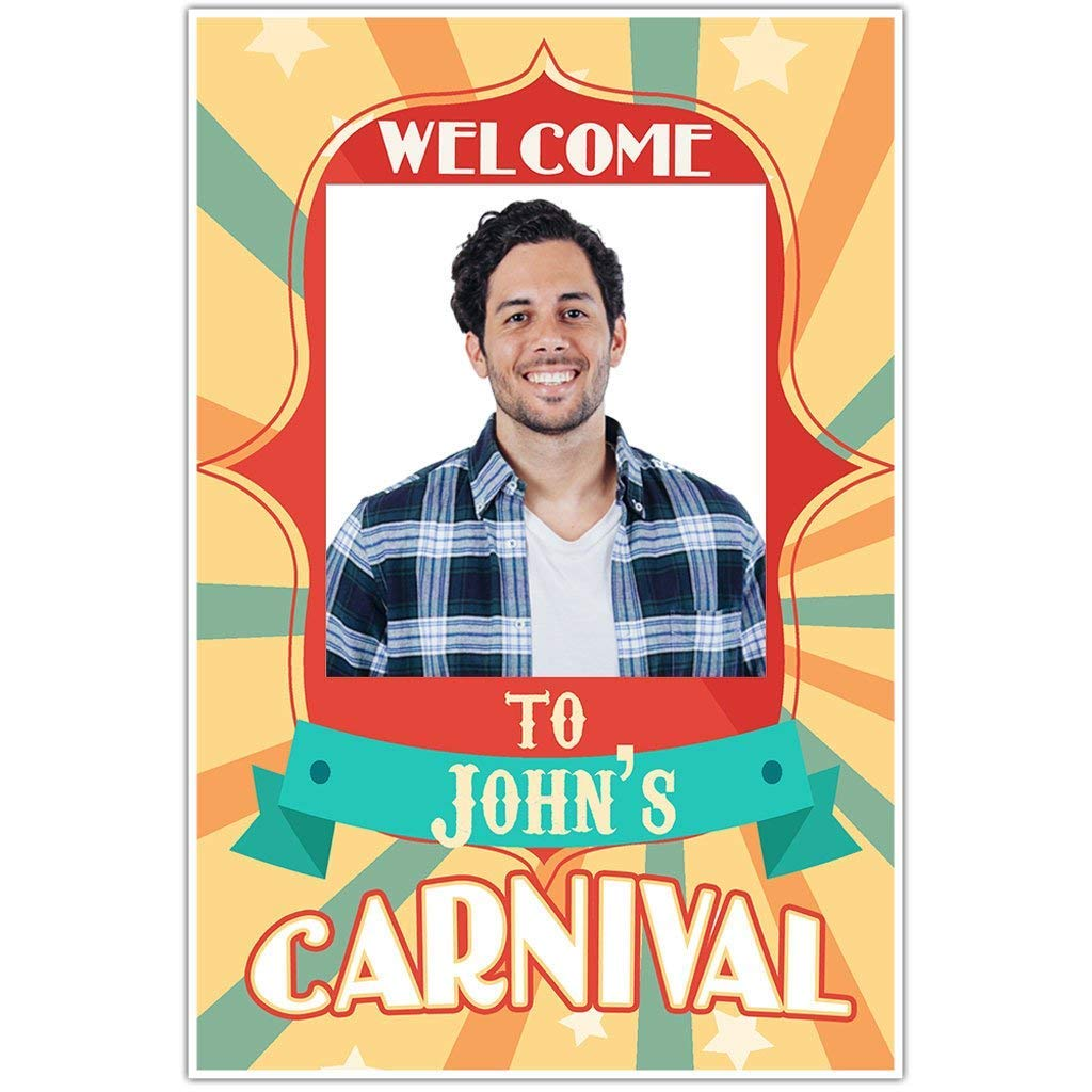 Stars Carnival Circus Selfie Frame Photo Booth Prop Poster