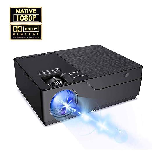 Proyector Proyector de Video y LED Nativo 1080P Proyector 8500 Lux ...