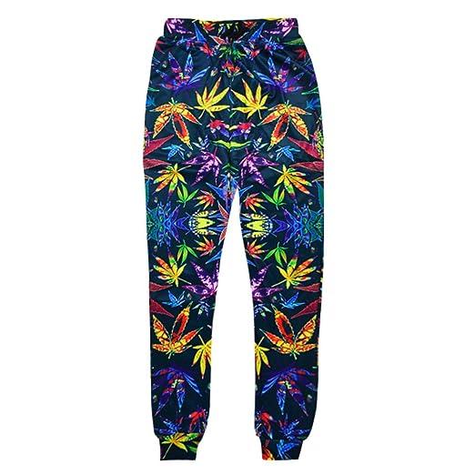 Dorathy Women Joggers Weed Leaf Floral 3D Print Sport Sweatpants Trouser Jogging