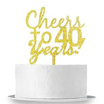 INNORU Cheers To 40 Years Cake Topper