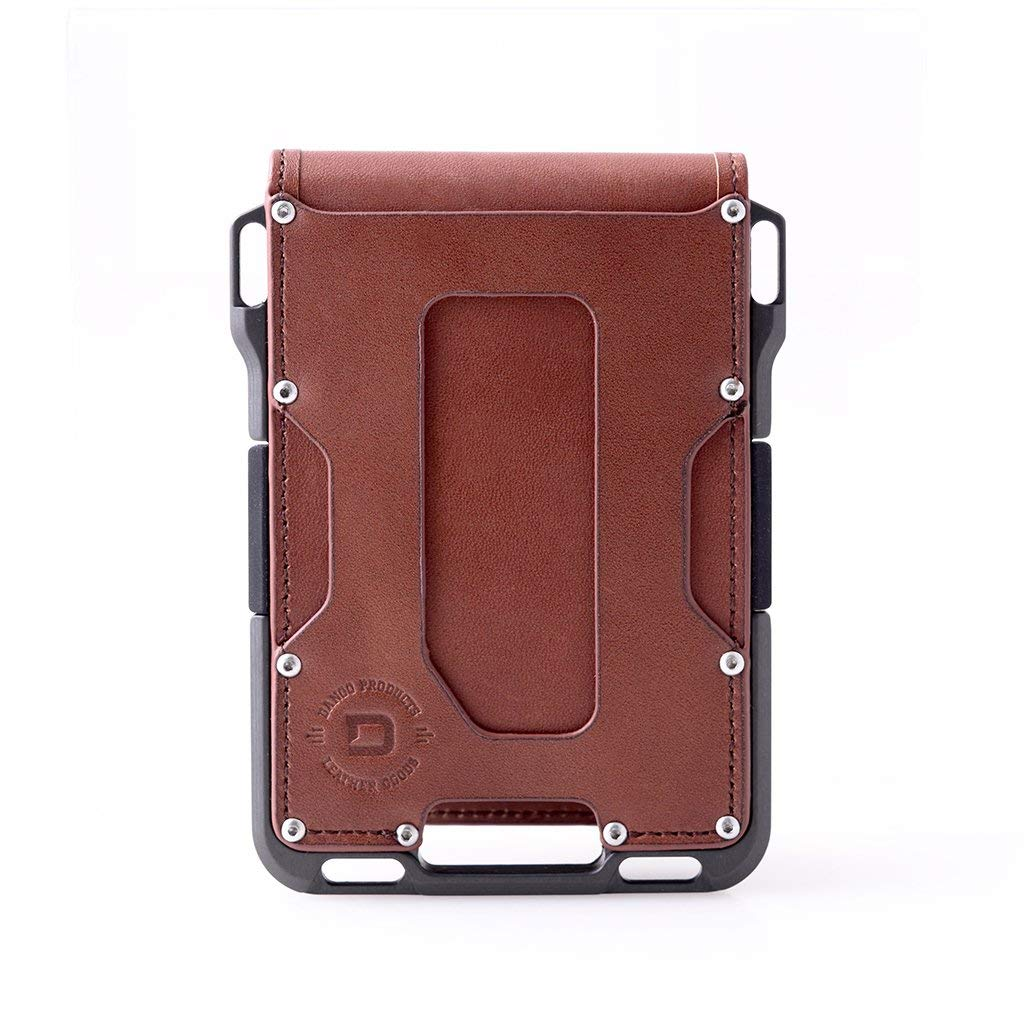 Dango M1 Maverick Bifold Wallet - Whiskey Brown/Slate Grey - Made in USA