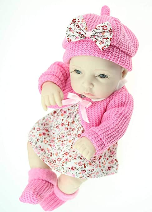 "11/"" Full Body Silicone Reborn Baby Doll Soft Vinyl Lifelike Newborn Boy Girl"