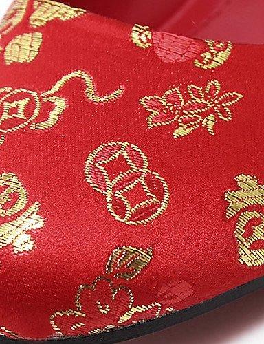 Hochzeit Rot amp; Kleid Festivität Party Heels 1in Damen Hochzeitsschuhe Absätze ShangYi Rundeschuh High xw0YPAqcz