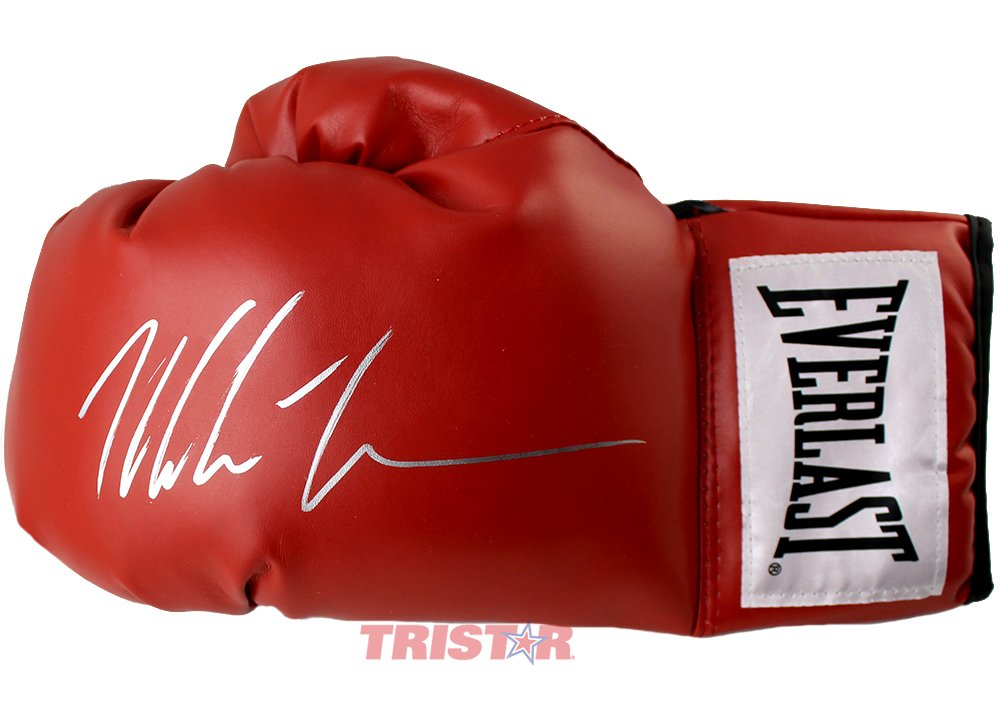 Mike Tyson Signed Autographed Everlast Red Boxing Glove TRISTAR COA