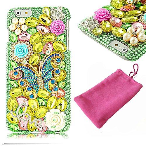 Iphone 7 Case, LU2000 Jewelry Pearl And Rhinestone Sparkl...