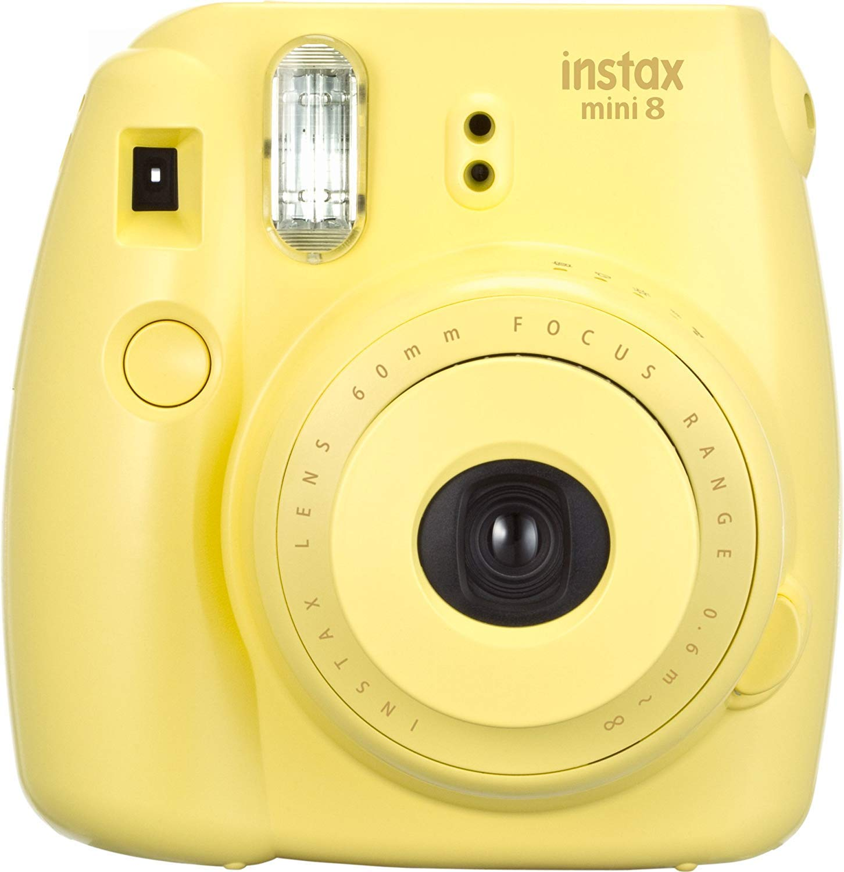 FUJIFILM インスタントカメラ チェキ INS MINI 8 純正ハンドストラップ付き イエロー INS MINI 8 YELLOW N   B01LHXZE7W