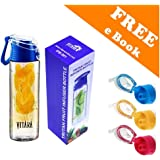 VITARA™ Tritan Water Bottle with Fruit Infuser, BPA free , 800 ml , Weight Loss & Detox Water Recipes eBook(Colour may vary) By VITARA™