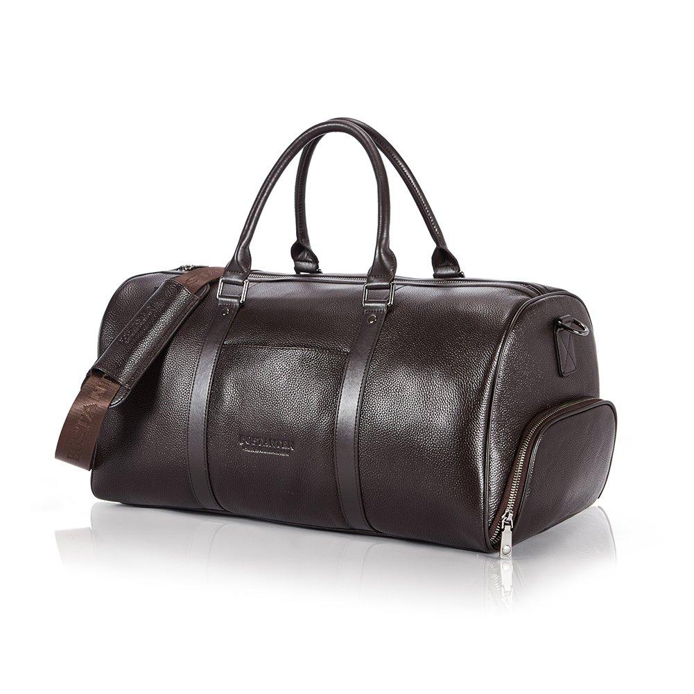 [ボスタンテン]BOSTANTEN ボストンバッグ 本革 トラベル バッグ 旅行 大容量 男女兼用 2WAY B07DNQLFG6 ブラウン ブラウン