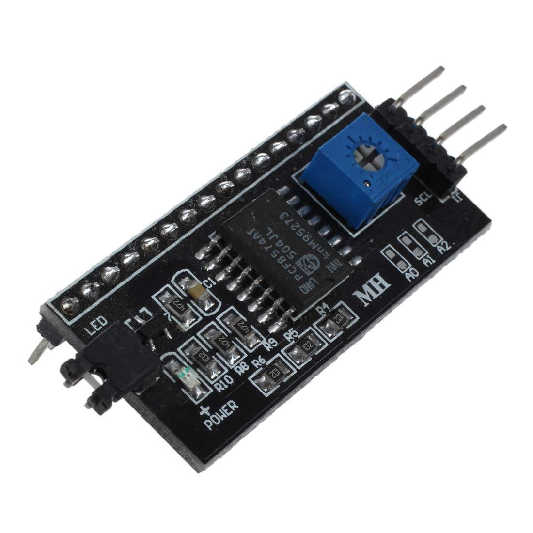 REFURBISHHOUSE IIC I2C TWI SPI seriellen Schnittstellenplatine Modulport fuer Arduino LCD1602 Anzeige