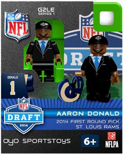[OYO Football NFL 2014 Draft First Round Picks Building Brick Minifigure Aaron Donald [St. Louis Rams]] (Rams Draft)