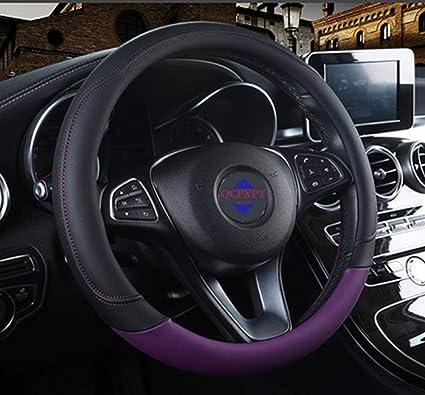 Leder Universal 15 Zoll Auto Lenkradbezug 38 cm Geruchlose Rutschfeste Lenkradabdeckung
