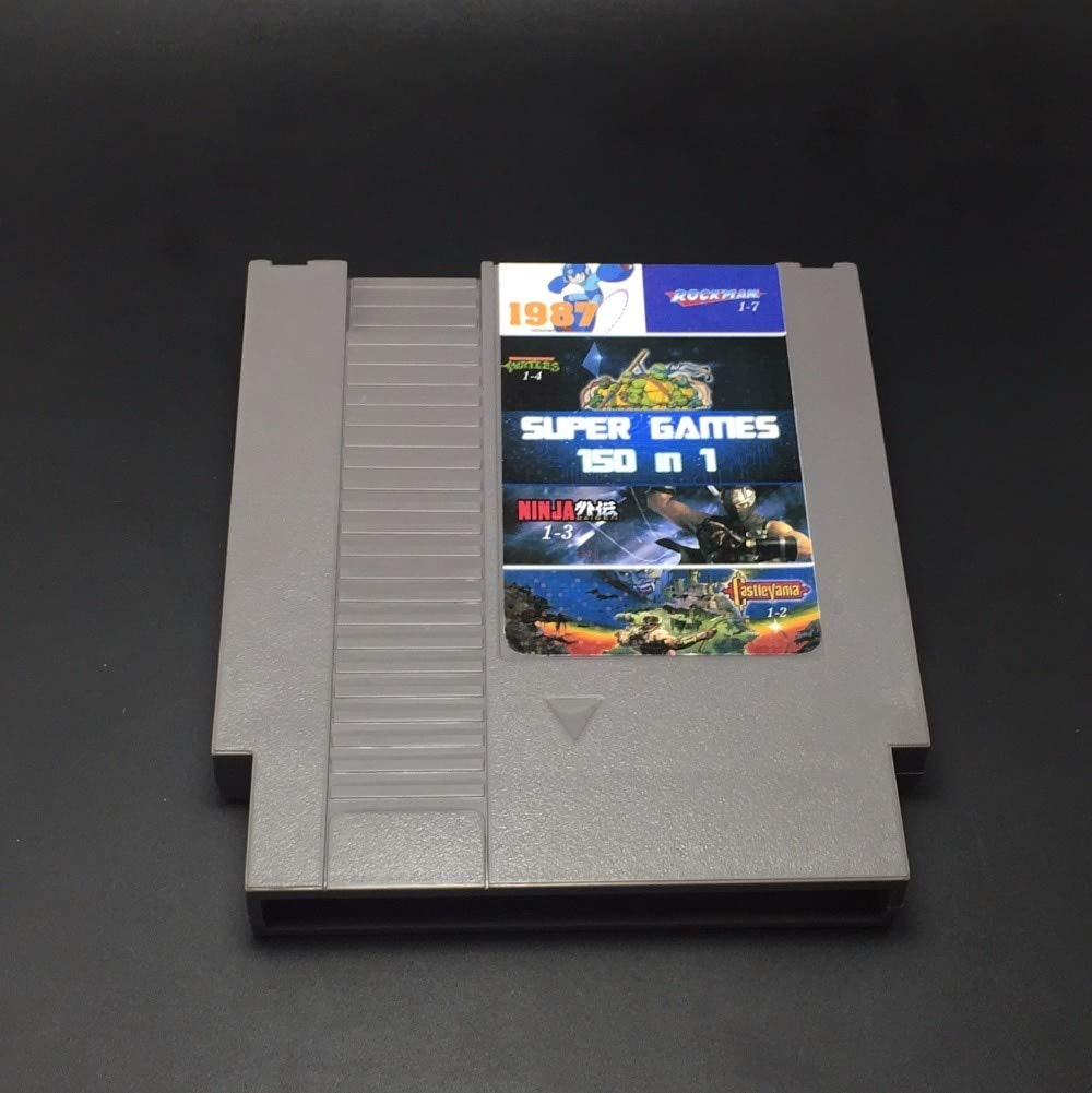 Game cartridge 150 in 1 Game Cartridge with game Rockman 1 2 3 4 5 6 NINJA TURTLES Contra Kirby's Adventure (Battery Save) - RED SHELL game classic , game NES , Super game , game 16 bit