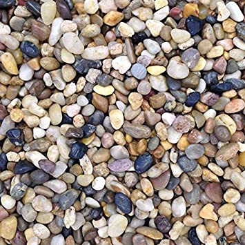 Acuario de Color Natural Stones Pebbles sustrato Grava, 0,5 - 1 cm, 5 kg: Amazon.es: Productos para mascotas