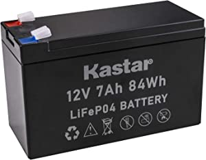 Kastar 12V 7Ah Lithium LiFePO4 Deep Cycle Rechargeable Battery | 2500-7000 Life Cycles & 10-Year Lifetime | Built-in BMS | Perfect for RV, Solar, Marine, Overland, Off-Grid Applications