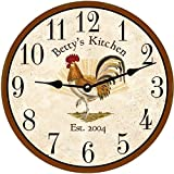 Personalized Rooster Clock