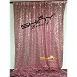 ShiDianYi 4FTX6FT-Fuchsia Pink-SEQUIN Photo Backdrop,Party/Prom Photography Background,Wedding Photo Booth (Fuchsia Pink)