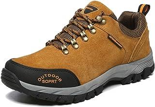 DSX Scarpe Sportive da Trekking da Uomo Scarpe da Trekking Outdoor Scarpe Comode e Traspiranti Scarpe da Allenamento Antiscivolo Scarpe da Trekking da Campeggio, Marrone, 43EU