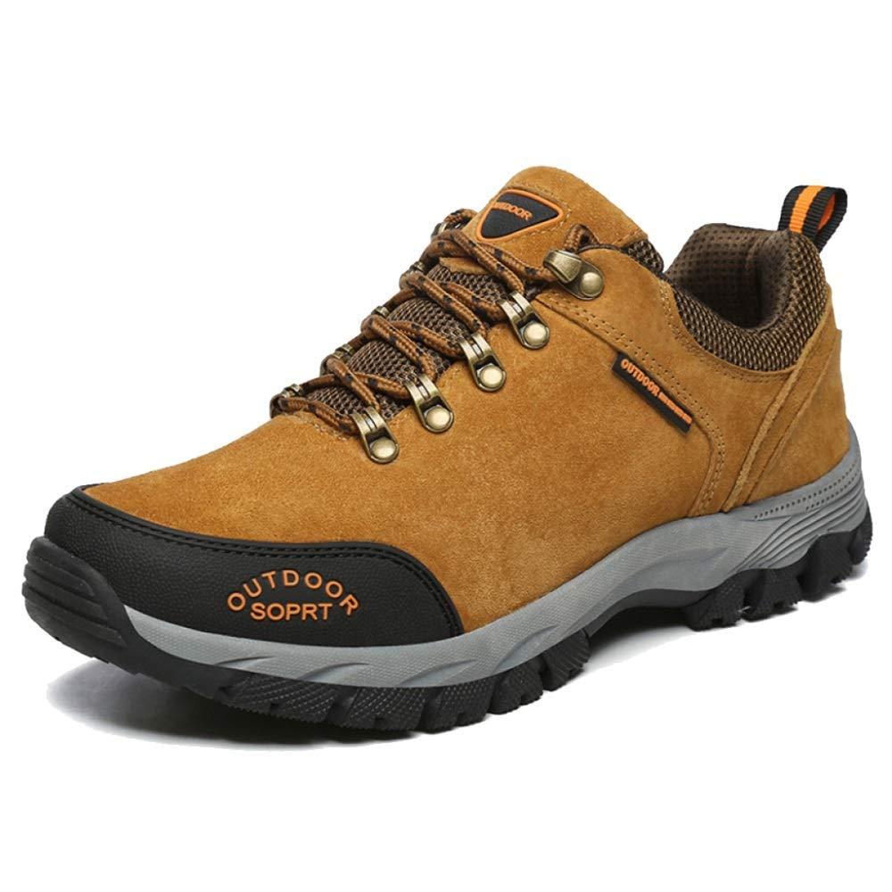 DSX Männer Sport Wanderschuhe Outdoor Wanderschuhe Atmungsaktiv Komfortable Schuhe Rutschfeste Trainingsschuhe Camping Wanderschuhe, braun, 49EU