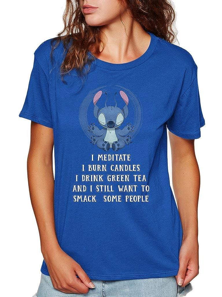 SMLBOO Stitch I Meditate I Burn Candles Funny Vintage Trending Awesome Shirt Unisex Style Shirt