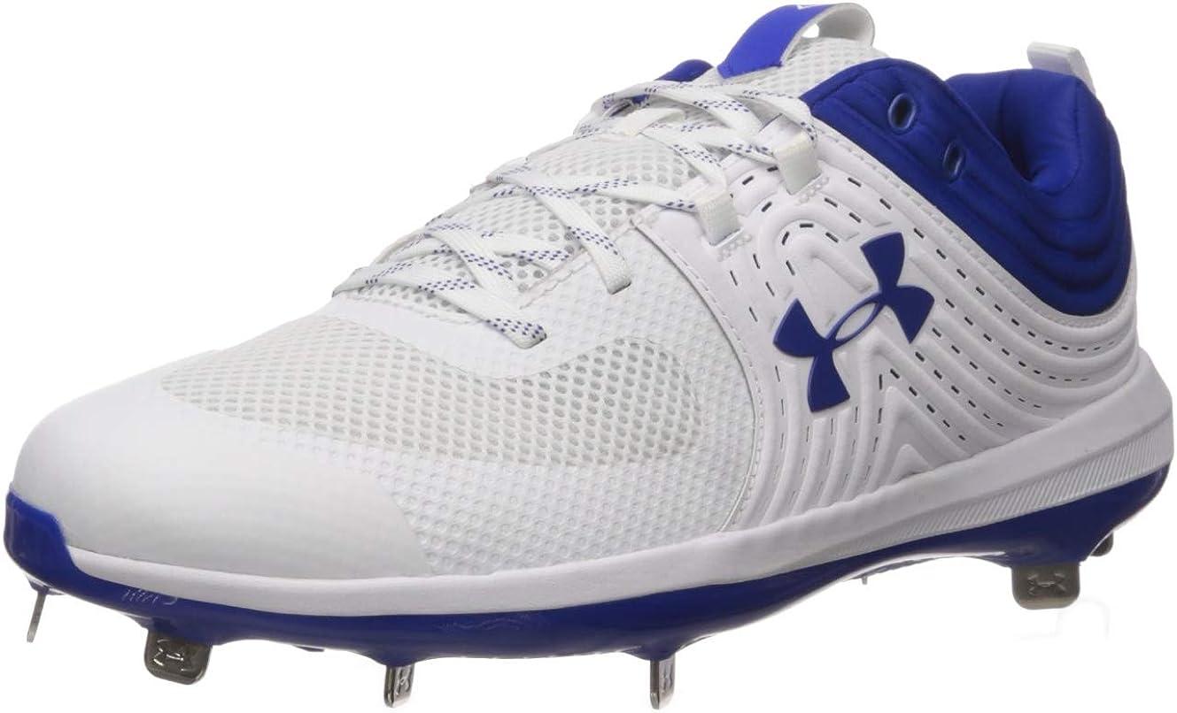 //Royal 102 9 Under Armour Womens Glyde ST Softball Shoe White
