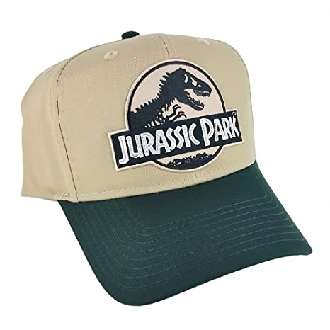 11bc79dce Amazon.com : Jurassic Park Movie Logo Desert Patch Green Khaki ...