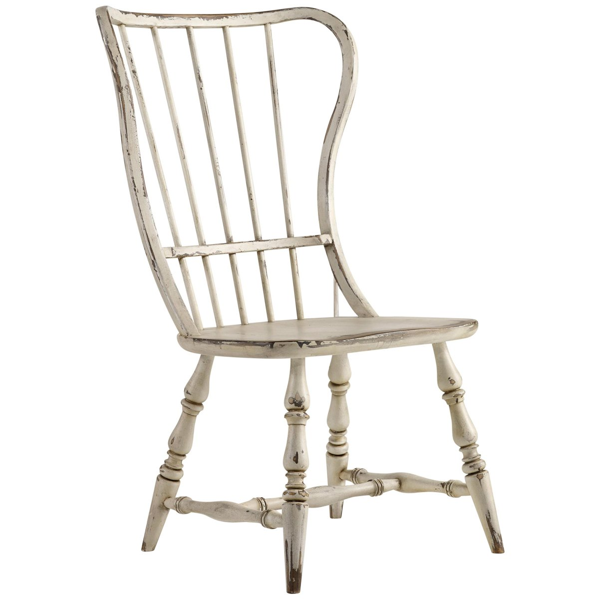 Hooker Furniture Sanctuary Spindle Back Dining Side Chair in White Set of 2