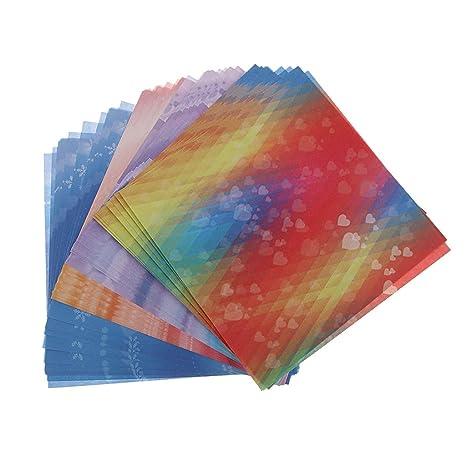 P Prettyia 60x Hojas de Papel Cuadrado Plegable Origami de ...