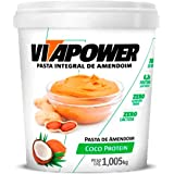 Pasta de Amendoim Sabores Naturais (1,005Kg) - Sabor Coco Protein, Vita Power