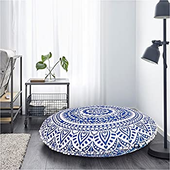 Amazon.com: Indian Large Mandala Floor Pillow Comfortable Home Car ...