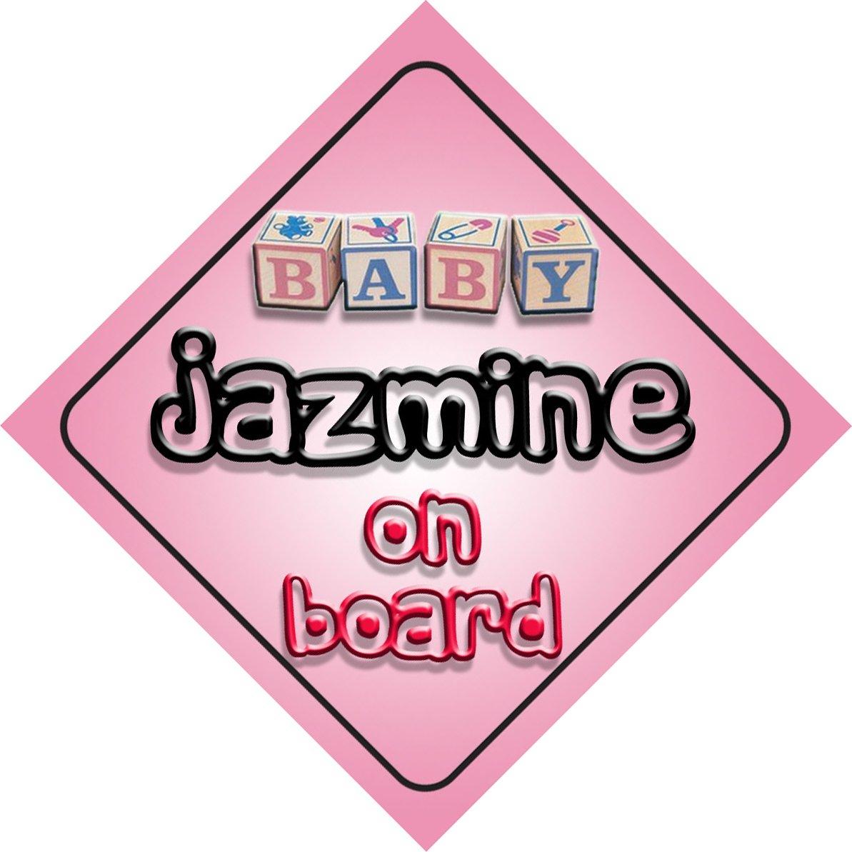 Bébé Fille Jazmine on Board fantaisie Panneau de voiture Cadeau/cadeau pour nouveau/enfant nouveau-né