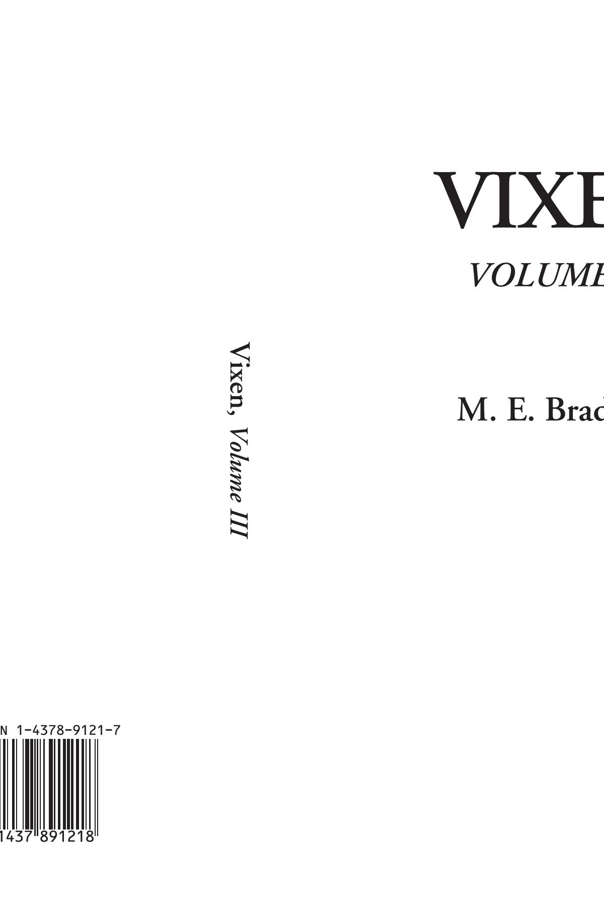 Download Vixen, Volume III ebook