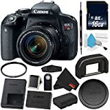6Ave Canon EOS Rebel T7i DSLR Camera 18-55mm Lens 1894C002 Starter Bundle - International Version (No Warranty)