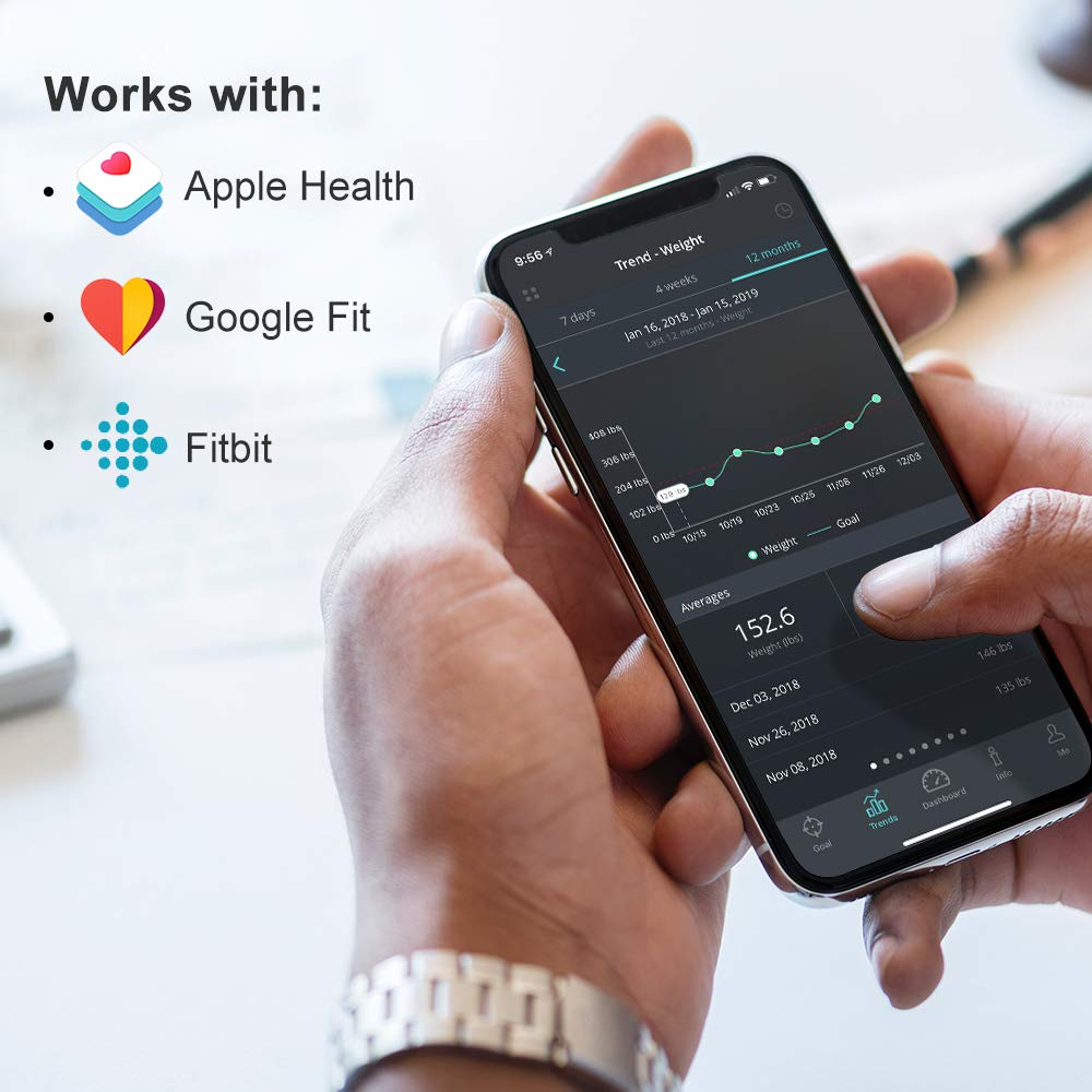 Innotech Smart Bluetooth Body Fat Scale Digital Bathroom Weight Weighing Scales Body Composition BMI Analyzer & Health Monitor with Free APP, Compatible with Fitbit, Apple Health & Google Fit by Innotech (Image #3)
