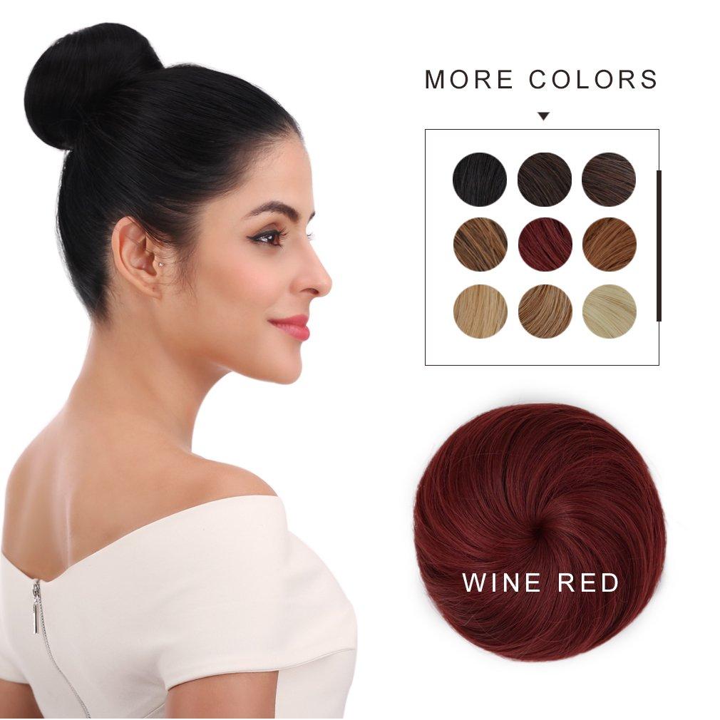 Good Synthetic Hair Bun Reecho Hair Extensions Chignon For Women 4