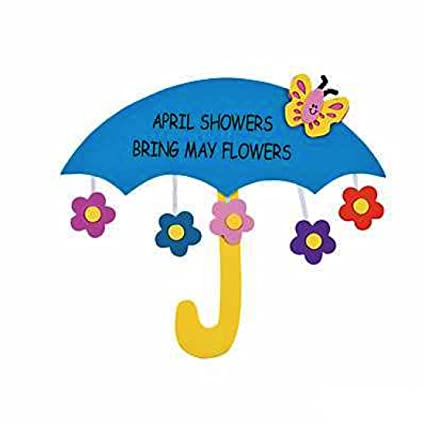 Amazon april showers bring may flowers sign craft kit crafts april showers bring may flowers sign craft kit crafts for kids decoration crafts mightylinksfo