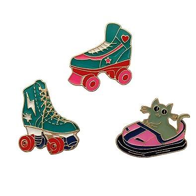 Amazon com: CAROMAY 3 PC Enamel Lapel Pins Set Roller Skates