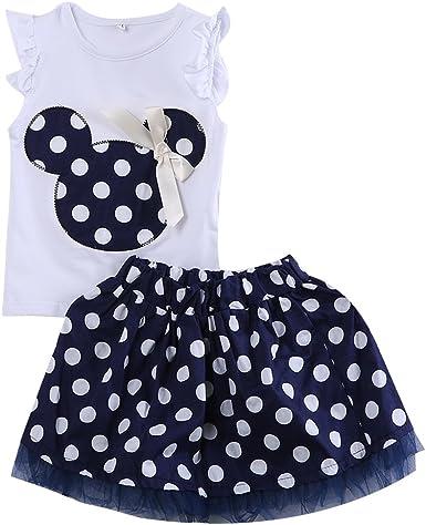 Wide.ling Minnie Mouse - Mini Vestido de Fiesta para niñas, Estilo ...