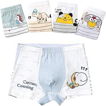 Cotton Coming 5Pcs Calzoncillos Bóxer de algodón para Niños 2-14 años