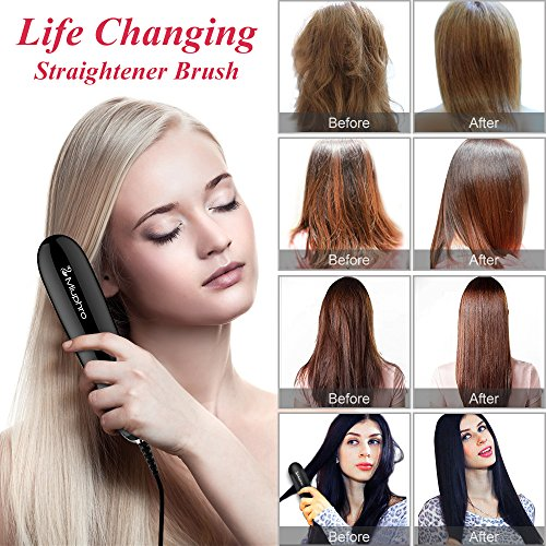 70%OFF Miuphro Mini Hair Straightener Brush, Suitable for Various ...